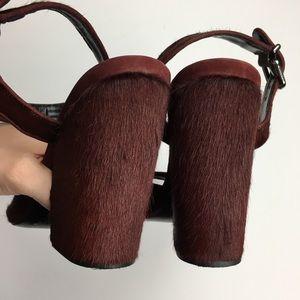 SCHUTZ Shoes - Schutz Sean Calf Hair Dark Purple/Burgundy Heels